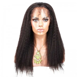 Natural Color Full Lace Human Hair Wigs Kinky Straight Malaysian Virgin Human Hair Full Lace Wigs