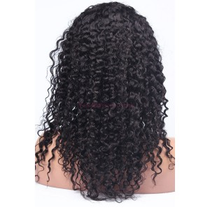 250% Density Brazilian Virgin Hair Kinky Curly Lace Front Human Hair Wigs