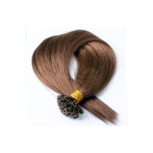 Pre bonded Keratin Nail Tip Fusion Straight Brazilian Virgin Human Hair Extensions