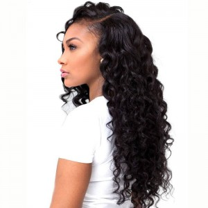 250% Density Lace Wig Pre-Plucked Natural Hairline Deep Wave Malaysian Lace Front Wigs with Baby Hair for Black Women