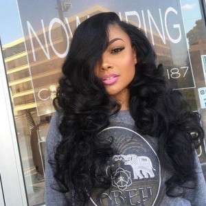 150% Density Lace Front Ponytail Wigs Body Wave Brazilian Lace Front Wigs Pre-Plucked Natural Hairline