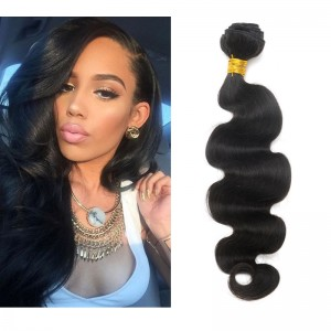 High Quality Body Wave Brazilian Virgin Human Hair Weave 4pcs Bundles Natural Color