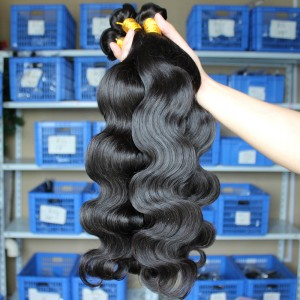 Natural Color Body Wave Unprocessed Malaysian Virgin Human Hair Weave 3 Bundles