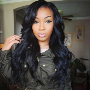 Indian Remy Human Hair Wigs Body Wave Natural Color Silk Top Lace Wigs