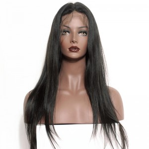 Brazilian Lace Wigs Pre-Plucked Natural Hairline 150% Density Wigs Silk Straight Lace Front Ponytail Wigs