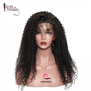 250% Density Lace Wig Pre-Plucked Human Hair Full Lace Wigs Malaysian Hair Kinky Curly Human Hair Wigs