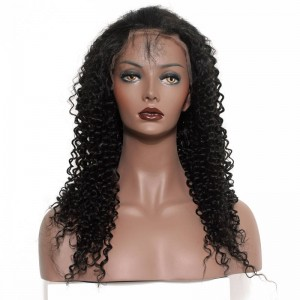 360 Lace Frontal Wigs 180% Density 360 Lace Frontal Human Hair Wigs Kinky Curly Peruvian Lace Front Human Hair Wigs
