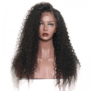 250% High Density Human Hair Lace Front Wigs with Baby Hair Deep Curly Natural Hair Line for Black Women