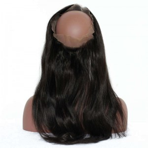 360 Lace Frontal Closure Straight Brazilian Virgin Hair Lace Frontal Natural Hairline 22.5*4*2