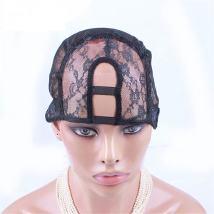 U Part Wig Caps For Making Wigs Stretch Lace Weaving Cap Adjustable Straps Back 5Pcs/Lot