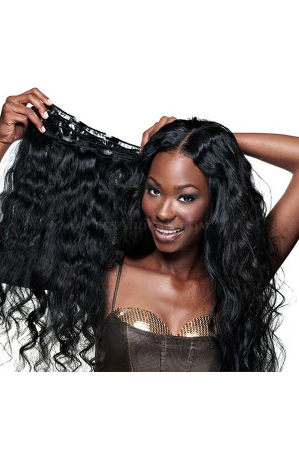 Body Wave Mongolian Virgin Hair Clip In Human Hair Extensions