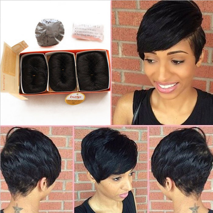 Brazilian Human Short Hair Extensions 27 Pieces Short Human Straight