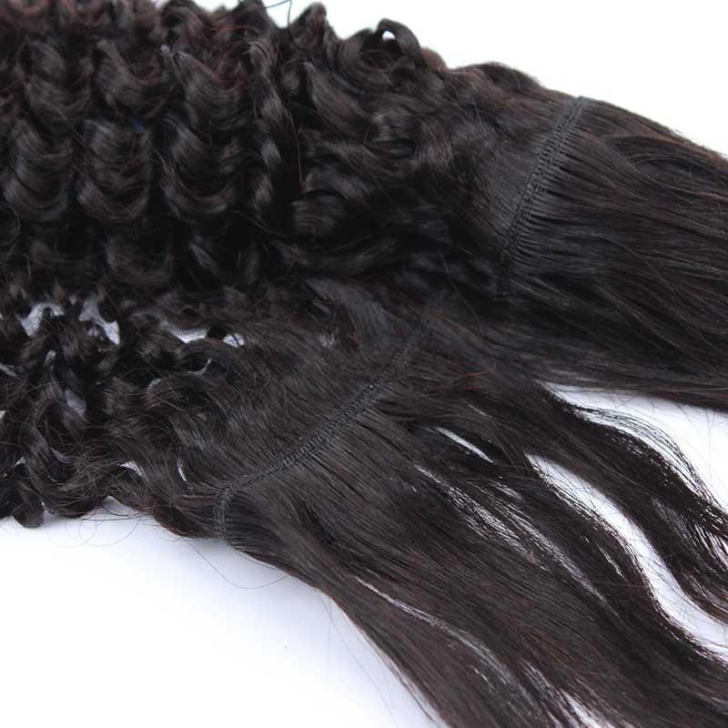 Natural Color Kinky Curly Braid In Bundle Hair Weaves Brazilian