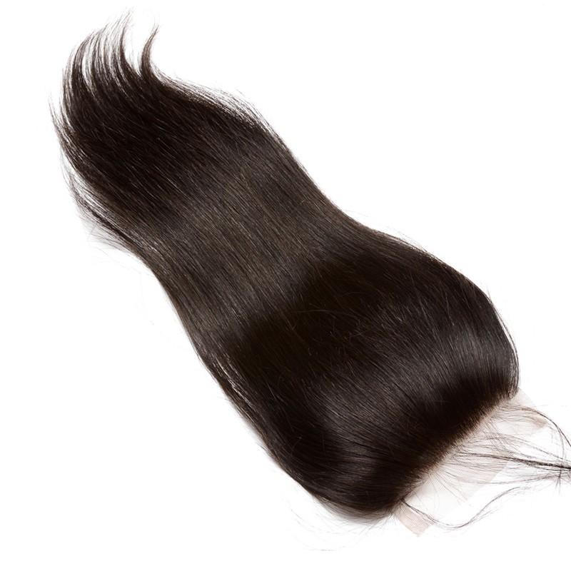 Brazilian Virgin With Closure Hair Extensions Loose Wave 3 Bundles