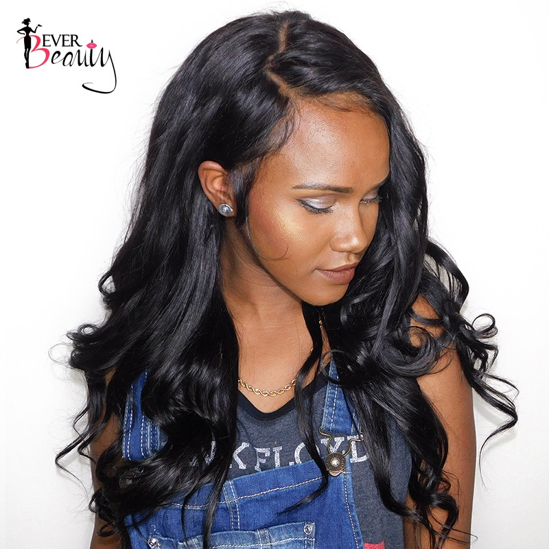 f593370ca Pre Plucked 360 Lace Wigs 180% Density Lace Front Human Hair Wigs Brazilian  Body Wave