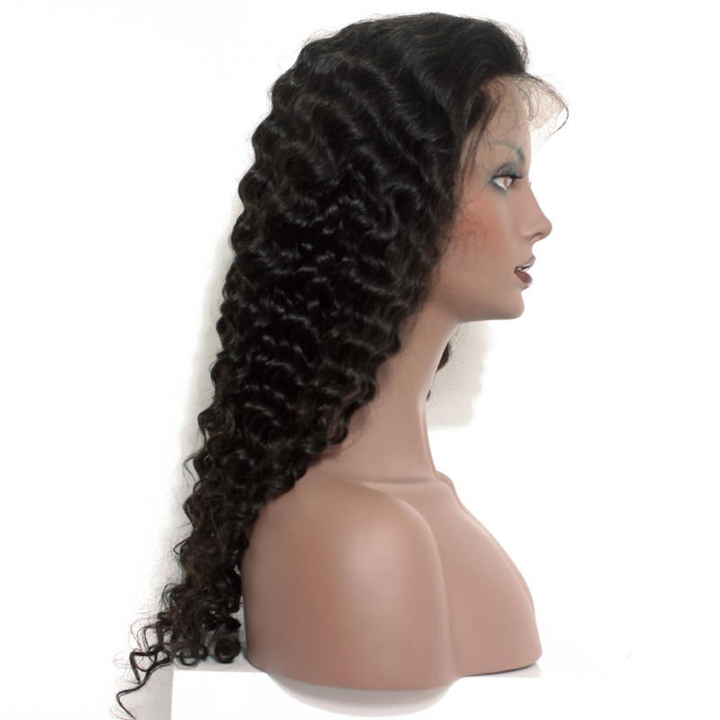 Malaysian Deep Wave Lace Front Wigs Pre Plucked Natural Hairline 150