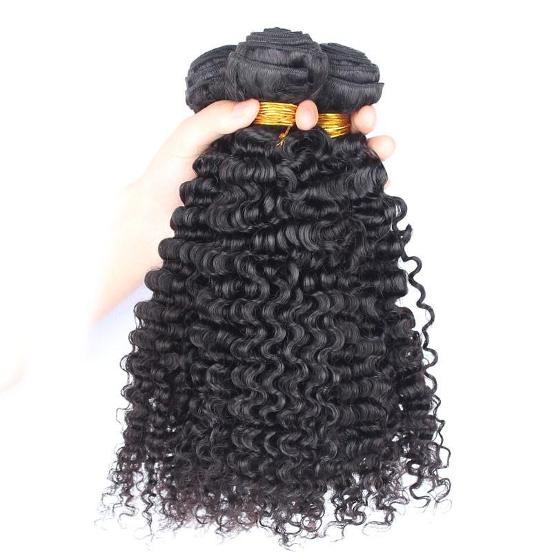 Brazilian Virgin Human Hair 3b 3c Kinky Curly Hair Weave 3 Bundles