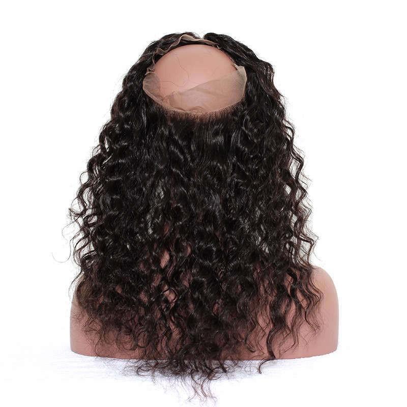 360 Lace Frontal Closure Loose Wave Brazilian Virgin Hair Pre