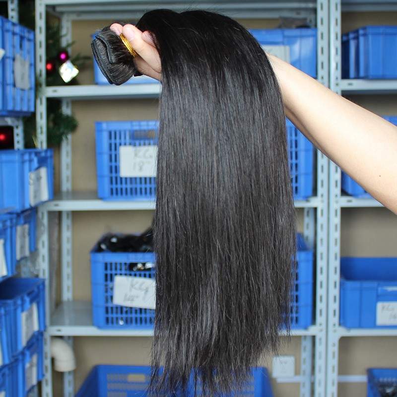 Indian Remy Human Hair Silky Straight Hair Weave Natural Color 3