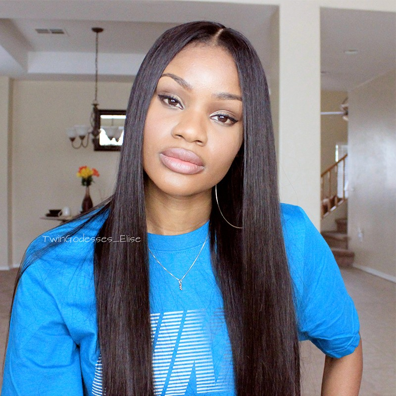 250 Density Lace Front Human Hair Wigs Brazilian Straight