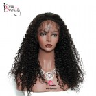 250% High Density Deep Curly Lace Front Human Wigs with Baby Hair for Black Women Natural Hairline Peruvian Lace Wigs