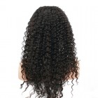 Natural Color Unprocessed Indian Remy 100% Human Hair Deep Wave Full Lace Wigs