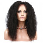 Natural Color Afro Kinky Curly Full Lace Human Hair Wig Brazilian Virgin Hair Full Lace Wigs