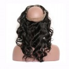 "360 Lace Frontal Band Body Wave Brazilian Virgin Hair Lace Frontal Natural Hairline 22.5x4x2"" Lace Size"