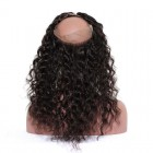 360 Lace Frontal Closure Loose Wave Brazilian Virgin Hair Pre-plucked Lace Frontal With Natural Hairline