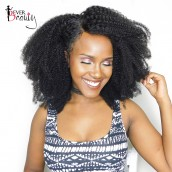 Natural Color Afro Kinky Curly Hair 4B 4C Kinky Curly Brazilian Virgin Human Hair Weave 3 Bundles
